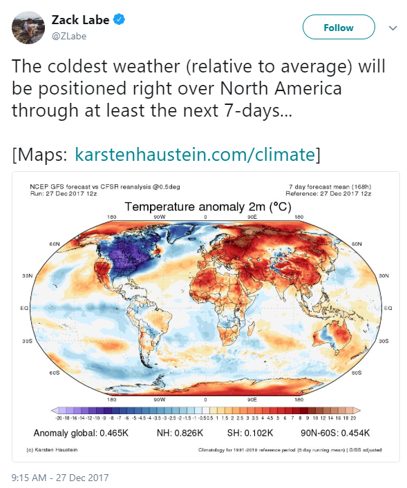 north america global warming tweet
