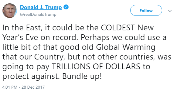 Trump global warming tweet