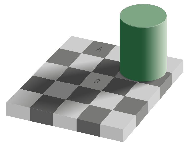 grey square optical illusions