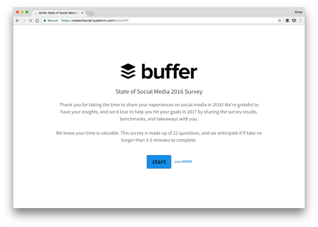 buffer survey prospect theory